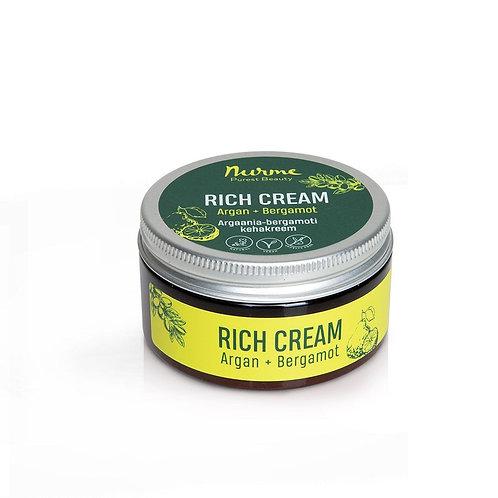 Rich Cream mit Arganöl und Bergamotteöl / Nurme