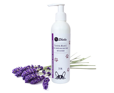 Relaxing Wellness Hundeshampoo und Conditioner mit Lavendel / Sheila