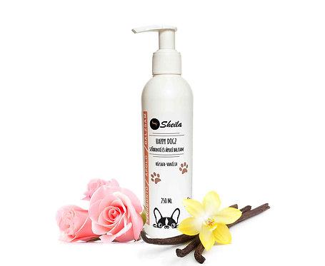 Happy Dogz Haarglättungs- und Pflegespülung mit Vanille und Rosenholzöl / Sheila