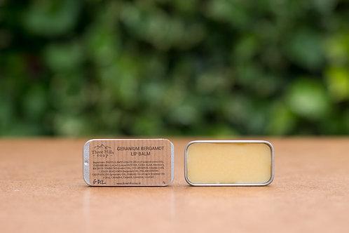 Lippenbalsam mit Bergamotte und Rosengeranie / Three Hills Soap