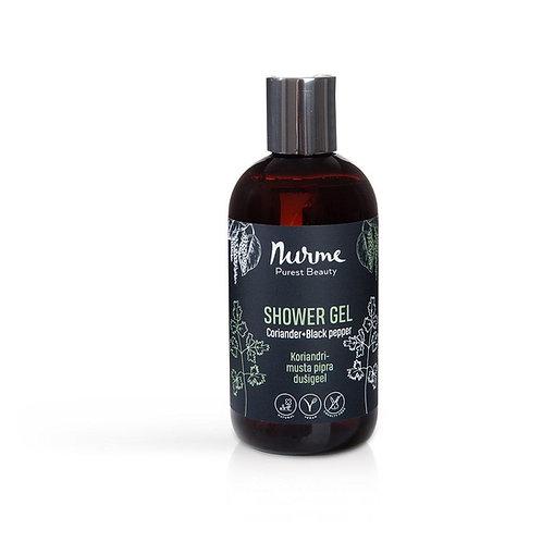 Natürliches Duschgel mit Korianderöl und Schwarzem Pfefferöl / Nurme