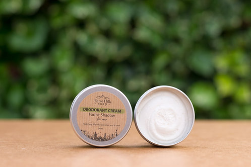 Forest Shadow Deodorant Cream für Männer / Three Hills Soap