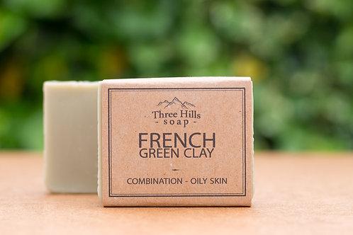 Naturseife mit der grünen französischen Tonerde / Three Hills Soap