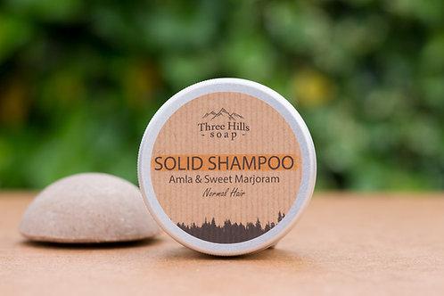 Festes Shampoo mit Amla und Majoran für normale Haare / Three Hills Soap