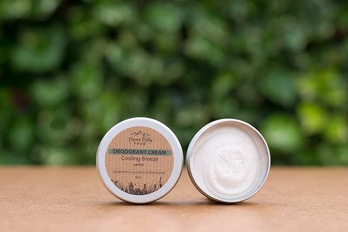 Cooling Breeze Deodorant Cream Unisex / Three Hills Soap