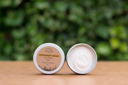 Go Fresh Deodorant Cream Unisex / Three Hills Soap