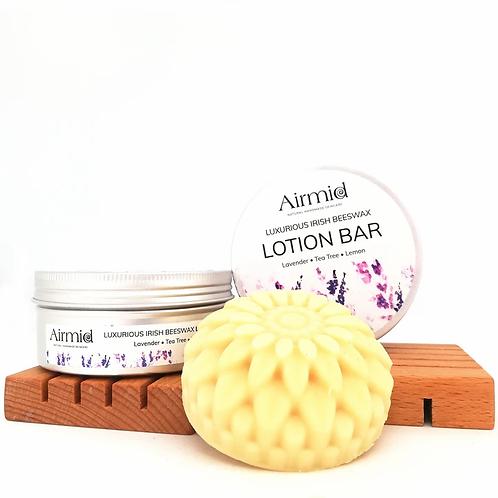 Lavendel, Teebaum & Zitronen Luxus Lotion Bar / Airmid