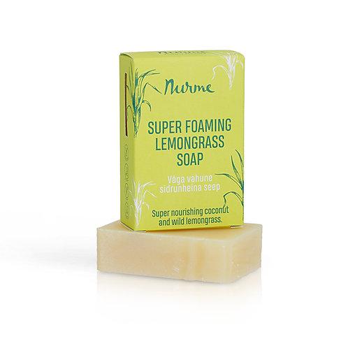 Super schäumende Naturseife mit Zitronengras / Nurme