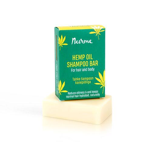 Festes Shampoo mit Hanföl für normales bis fettiges Haar / Nurme