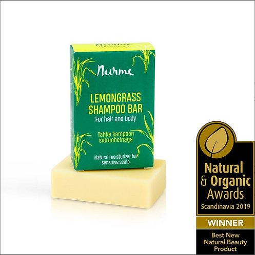 Festes Shampoo mit Zitronengras für sensible Kopfhaut / Nurme