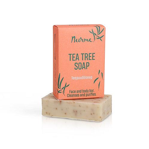 Naturseife mit Teebaumöl und Limette  / Nurme