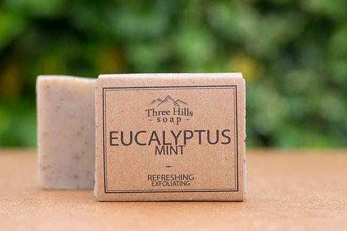 Naturseife mit Eukalyptus und Krauseminze / Three Hills Soap