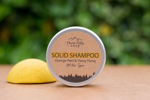 Festes Shampoo mit Orange und Ylang-Ylang für alle Haartypen / Three Hills Soap