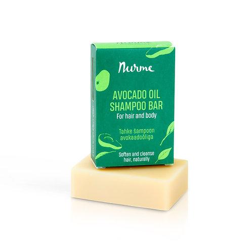 Festes Shampoo mit Avocadoöl für alle Haartypen / Nurme