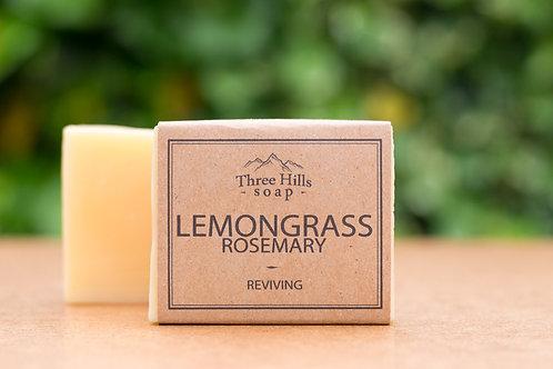 Naturseife mit Zitronengras und Rosmarin / Three Hills Soap