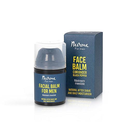 Gesichtsbalsam für Männer mit Korianderöl und Schwarzem Pfefferöl   / Nurme
