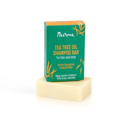 Festes Shampoo mit Teebaumöl für juckende Kopfhaut / Nurme