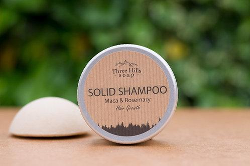 Festes Shampoo mit Maca und Rosmarin für Haarwachstum / Three Hills Soap