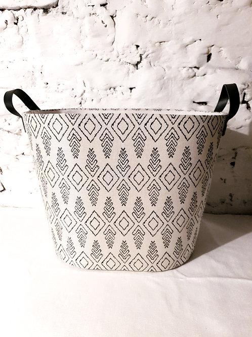 Aztec Linen Basket