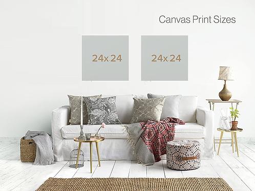 """Custom 24"""" Square Canvas"""