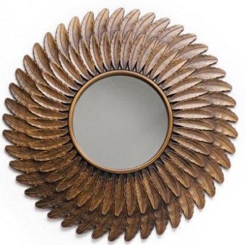 Bronze Feather Mirror