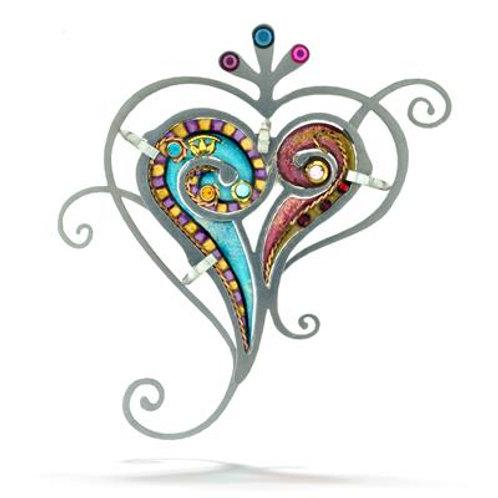 Paisley Heart Pin
