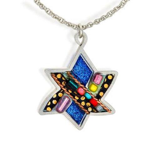 Aleph & Judaic Star Necklace