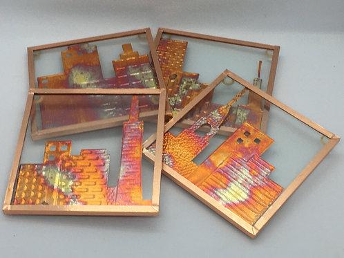Cityscape coasters