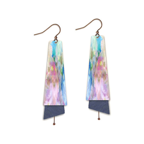 Watercolor Copper Earrings