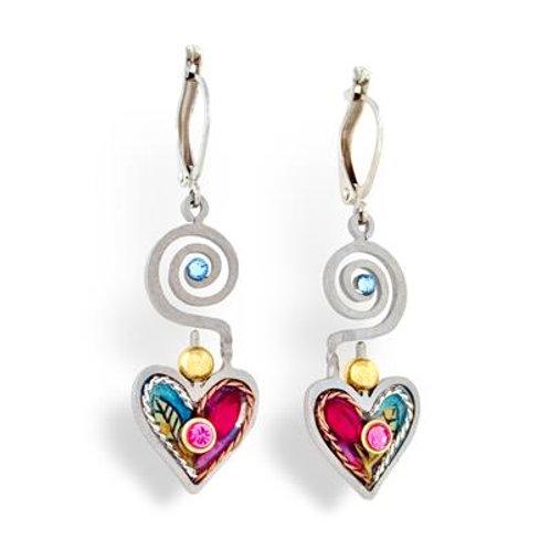 Growing Love Heart Earrings
