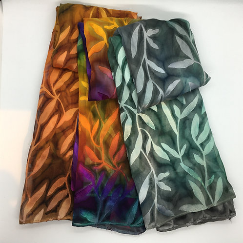 Hand Painted Devore Scarves