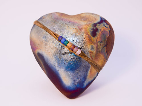 Raku Heart InnerSpirit Rattle