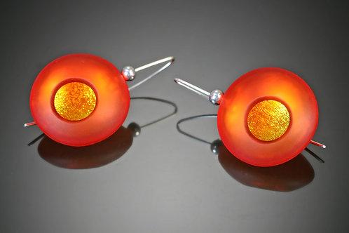 Atomic Orange Earrings