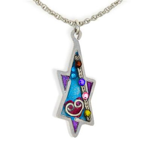 Oblong Star of David Necklace