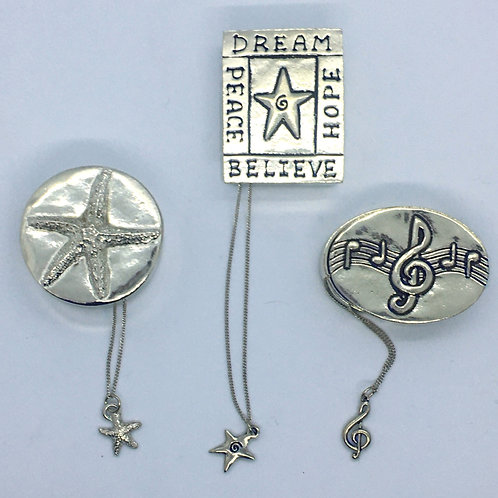 Pewter Box with matching necklace