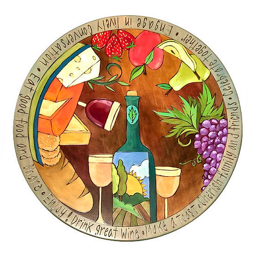 Cheese & Wine Lazy Susan