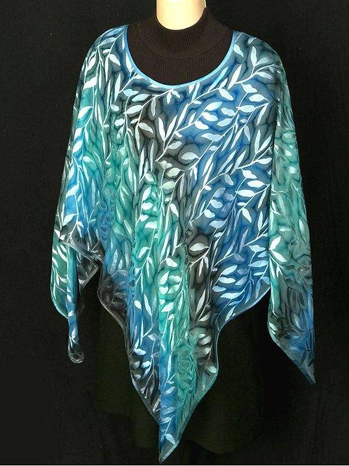 Vibrant Silk Ponchos