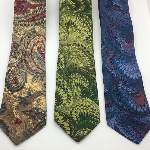 Marbled Silk Tie one-of-a-kind