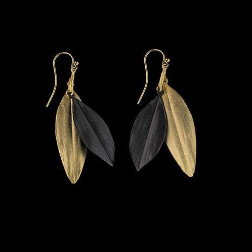 Cordyline Double Leaf Earrings