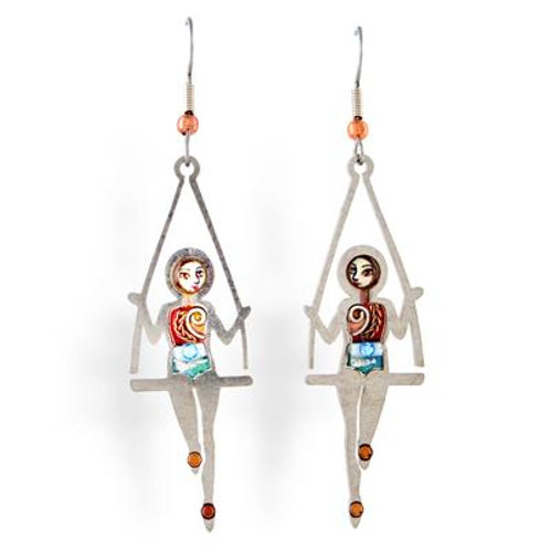 At the Circus Trapeze Earrings