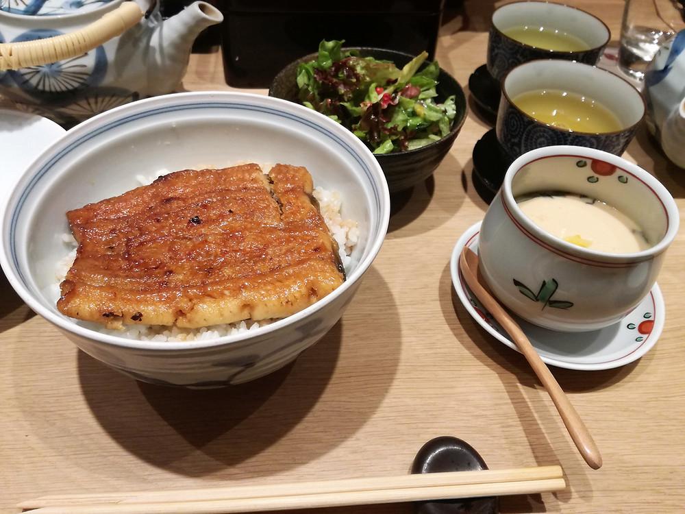 Restaurant japonais Paris Unagi don うなぎ丼 & Chawan Mushi 茶碗蒸し