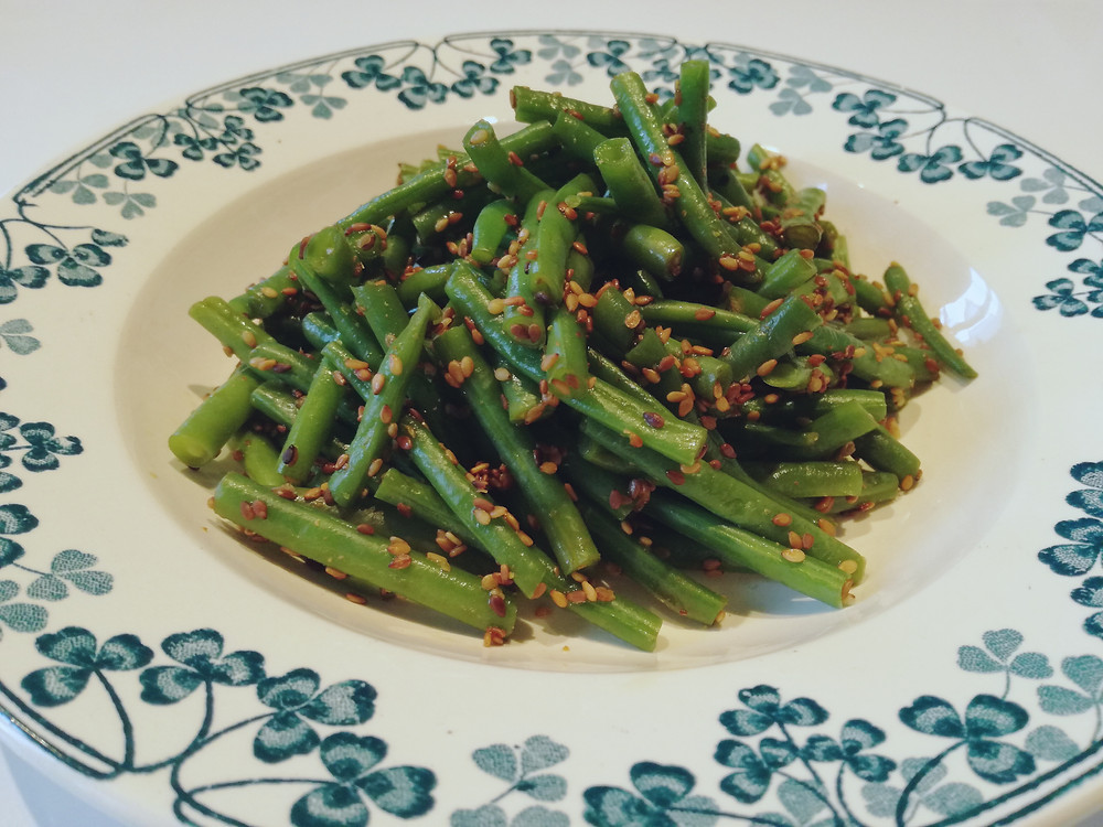 recette facile INGEN NO GOMA AE (haricots verts au sésame). インゲンの胡麻和え
