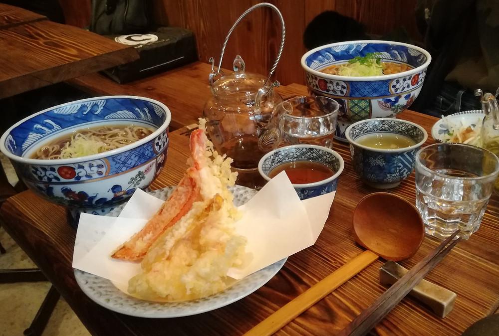 Restaurant japonais authentique Paris Assortiment de Tempura 天ぷら du restaurant ABRI SOBA