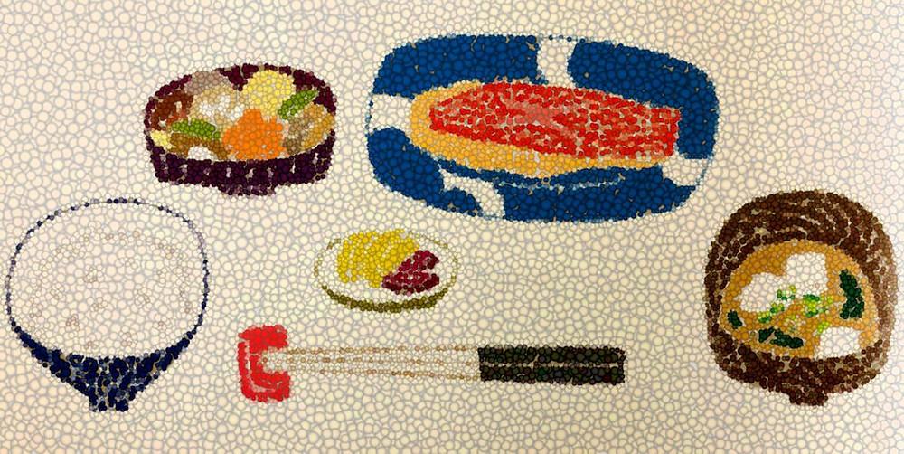 Cuisine japonaise traditionnelle Repas appliquant le principe Ichijû sansai 一汁三菜