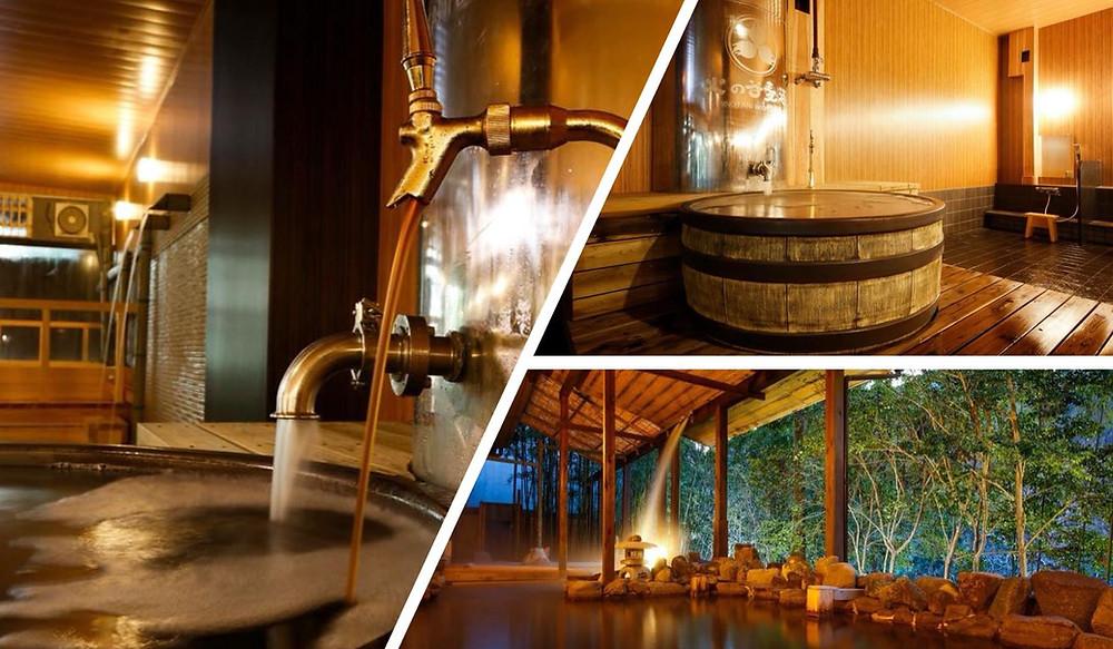 Japon Bains de bière au HINOTANI ONSEN 火の谷温泉