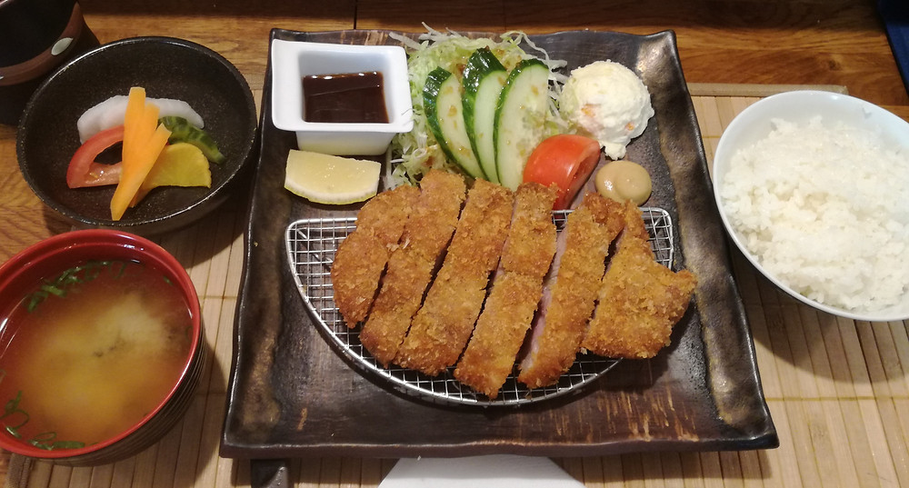 Restaurant japonais authentique Menu Tonkatsu 豚カツ定食