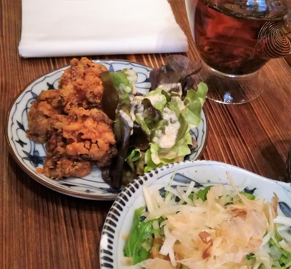 Restaurant japonais authentique Paris Assiette de Karaage 唐揚げ, restaurant ABRI SOBA