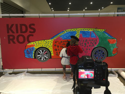 Art activity with children in Autoeuropa Volkswagen
