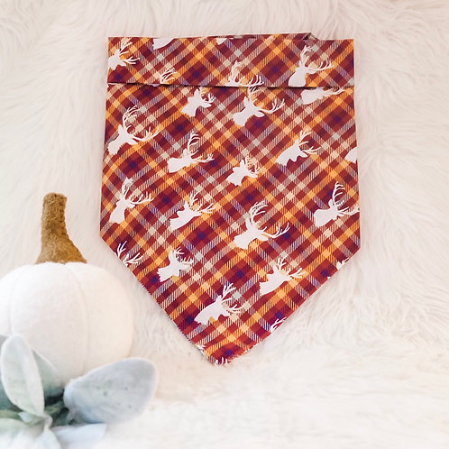 OH Deer! (Burgundy, Orange, Jade) Bandana