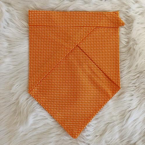 Orange and White Polka Dot Personalized Bandana